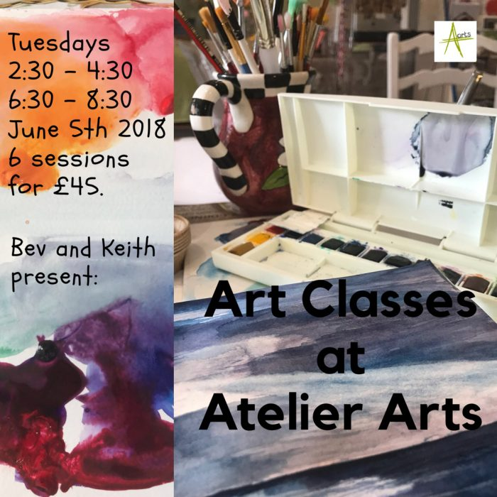 Art Classes at Atelier arts in the heart of Clitheroe