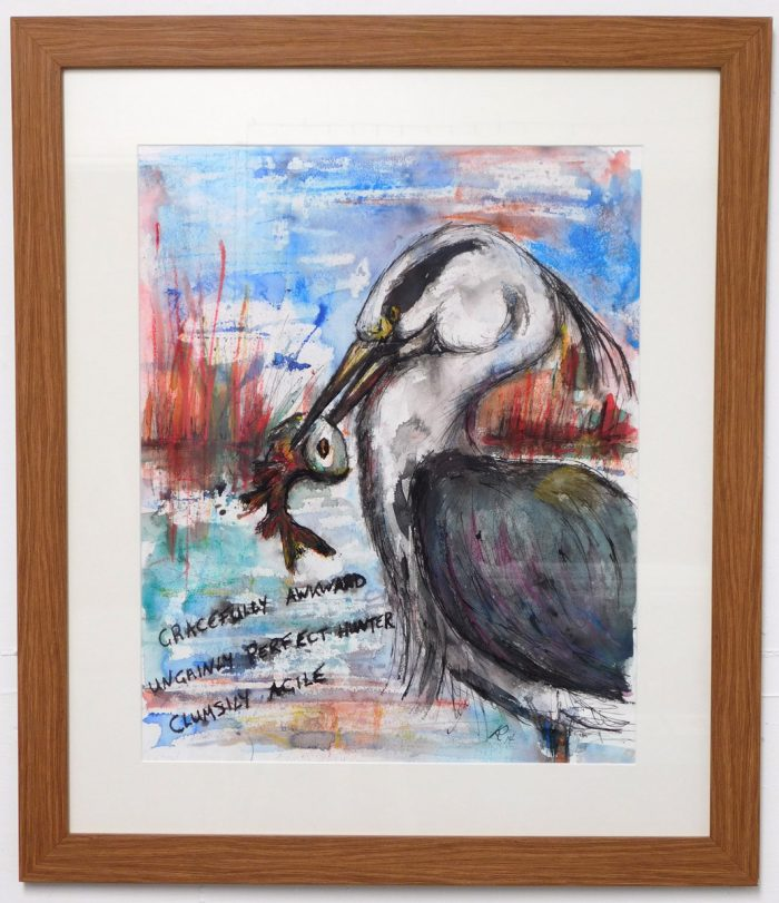 Heron Haiku 1 by Keith Parkinson of Atelier Arts in Clitheroe, UK