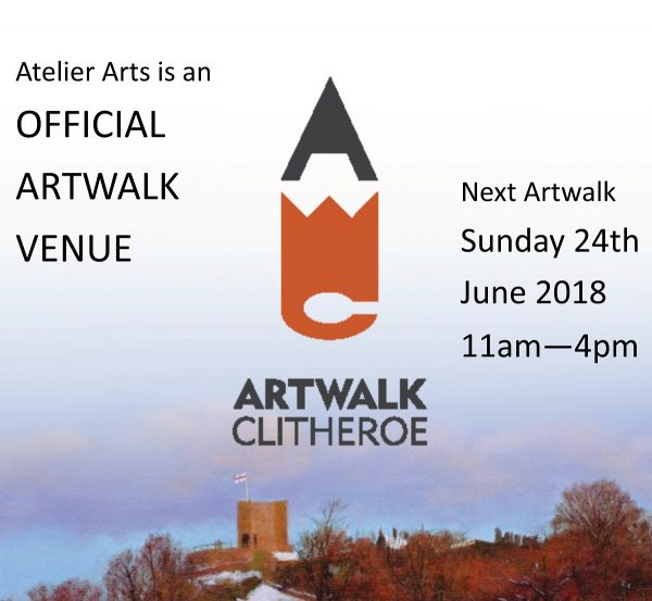 Atelier Arts is once more participating in Clithreroe Artwalk. on 24th June 2018.