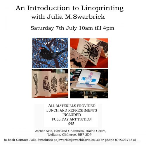 Lino printing workshop with Julia Swarbrick