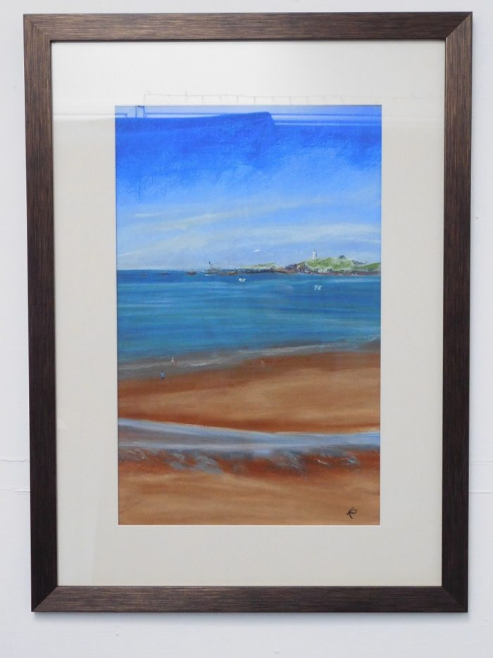 Chalk pastel painting of Newborough Beach, Anglesey