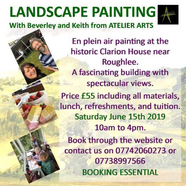 Landscape painting workshop at Atelier Arts